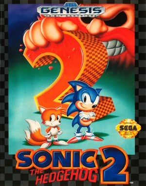 Sonic The Hedgehog 2 Sega Genesis front cover