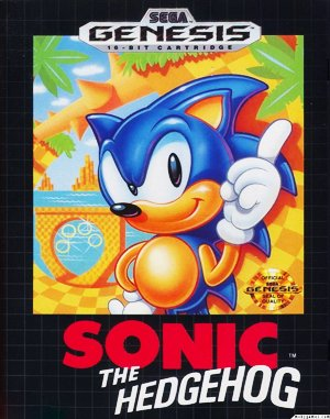 Sonic The Hedgehog Sega Genesis front cover