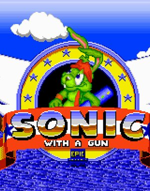 Sonic With a Gun DOS front cover