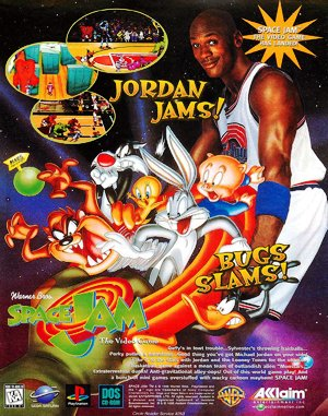 Space Jam DOS front cover