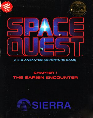 Space Quest: Chapter I – The Sarien Encounter DOS front cover
