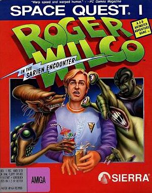 Space Quest I: Roger Wilco in the Sarien Encounter DOS front cover