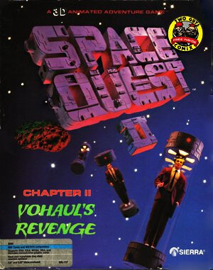 Space Quest II: Chapter II – Vohaul's Revenge DOS front cover