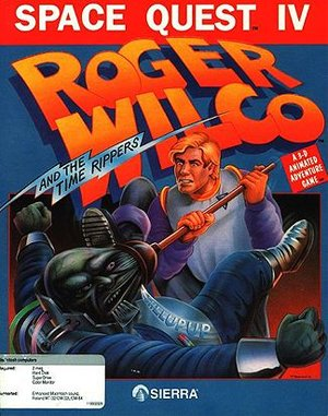 Space Quest IV: Roger Wilco and the Time Rippers (CD) DOS front cover