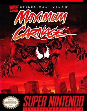 Spider-Man and Venom: Maximum Carnage SNES front cover