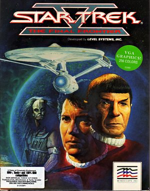 Star Trek V: The Final Frontier DOS front cover