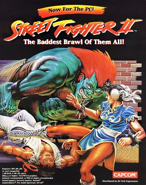 Street Fighter II DOS front cover