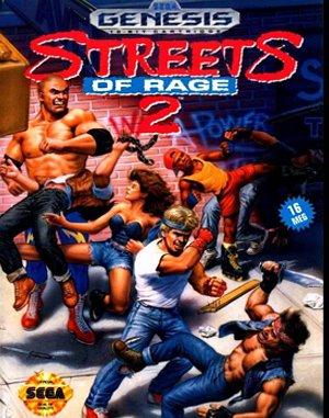 Streets of Rage 2 Sega Genesis front cover