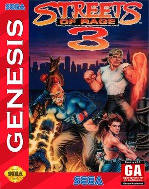 Streets of Rage 3 Sega Genesis front cover