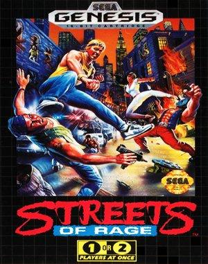 Streets of Rage Sega Genesis front cover