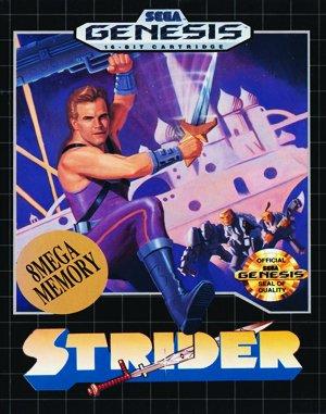 Strider Sega Genesis front cover
