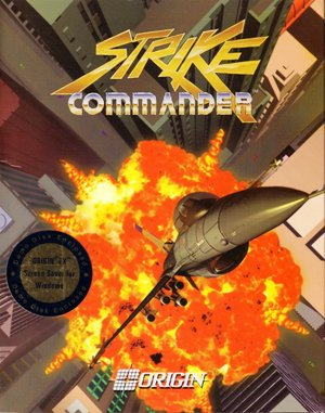 Strike Commander DOS front cover