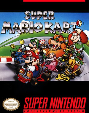 Super Mario Kart SNES front cover