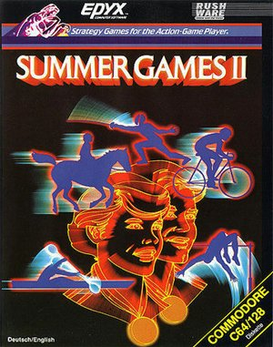 Summer Games II DOS front cover
