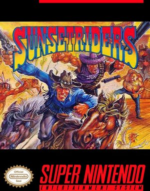 Sunset Riders SNES front cover