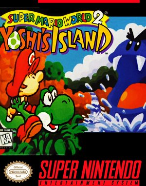 Super Mario World 2: Yoshi's Island SNES front cover