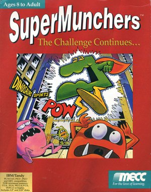 Super Munchers: The Challenge Continues… DOS front cover