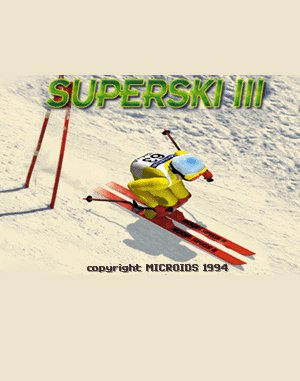 Super Ski III DOS front cover