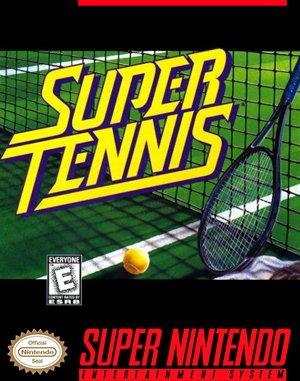 Super Tennis SNES front cover