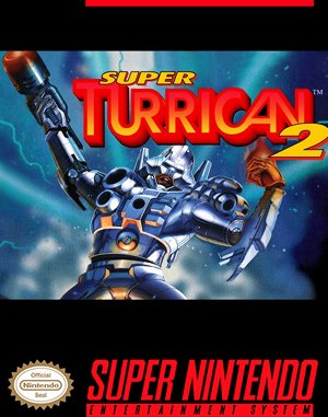 Super Turrican 2 SNES front cover
