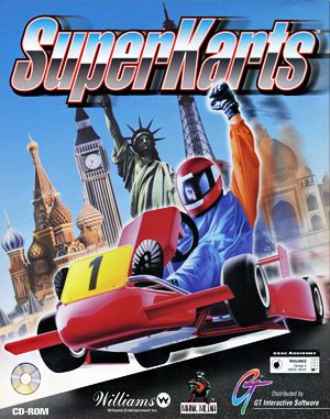 SuperKarts DOS front cover