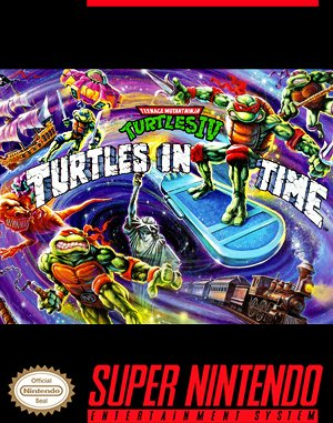 Teenage Mutant Ninja Turtles: Turtles in Time DOS front cover