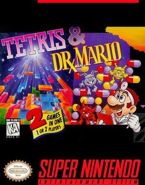 Tetris & Dr. Mario SNES front cover
