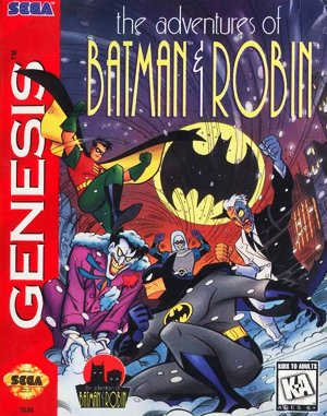 The Adventures of Batman & Robin Sega Genesis front cover