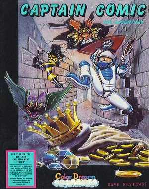 The Adventures of Captain Comic DOS front cover