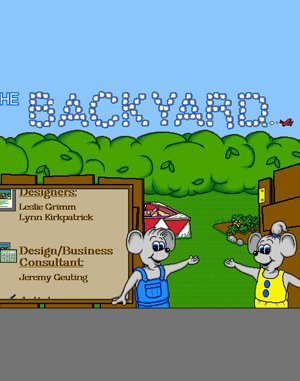 The Backyard DOS front cover