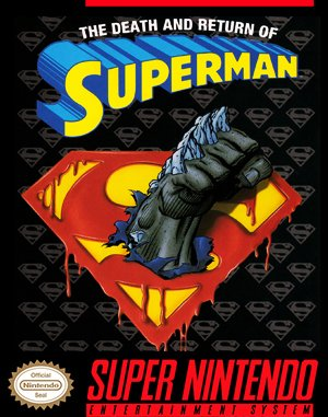 The Death and Return of Superman SNES front cover