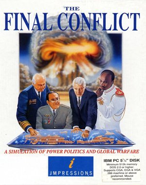 The Final Conflict DOS front cover