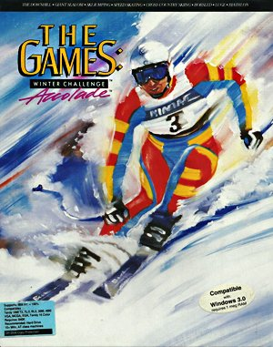 The Games: Winter Challenge DOS front cover