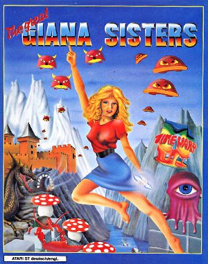 The Great Giana Sisters DOS front cover