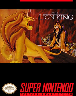 The Lion King SNES front cover