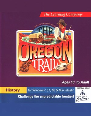 The Oregon Trail 1.2 DOS front cover