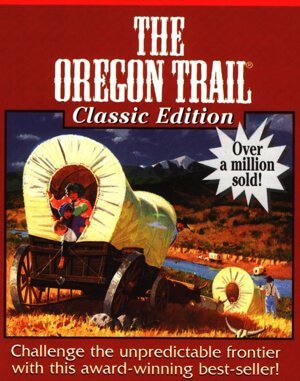 Oregon Trail game DOS front cover