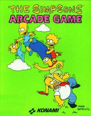 The Simpsons Arcade Game DOS front cover