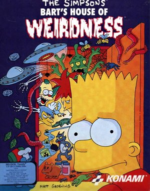 The Simpsons: Barts House of Weirdness DOS front cover