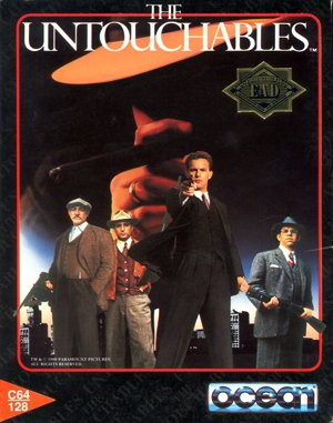 The Untouchables DOS front cover
