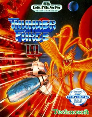 Thunder Force III Sega Genesis front cover