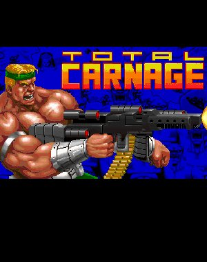 Total Carnage DOS front cover