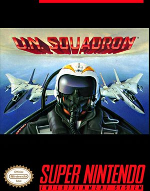U.N. Squadron DOS front cover