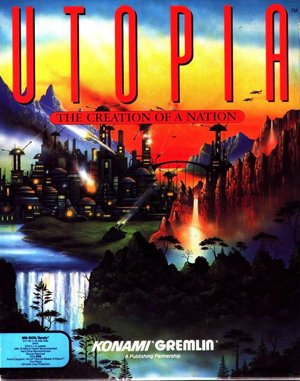 Utopia: The Creation of a Nation DOS front cover