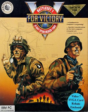 V for Victory: Battleset 1 – D-Day Utah Beach – 1944 DOS front cover