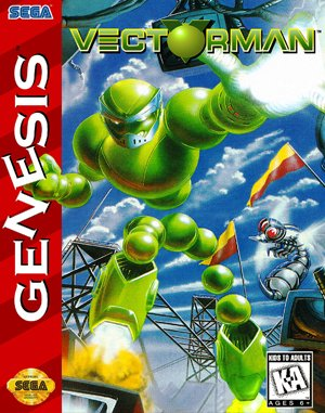 VectorMan Sega Genesis front cover