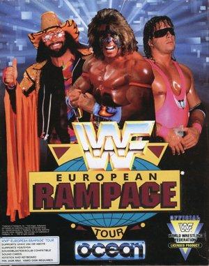 WWF European Rampage Tour DOS front cover