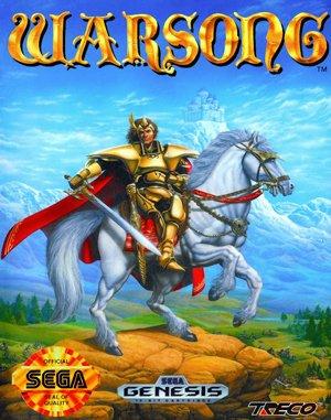 Warsong Sega Genesis front cover
