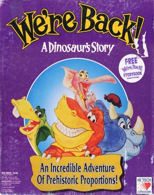 We're Back!: A Dinosaur's Story DOS front cover
