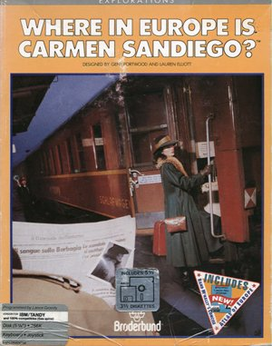 Where in Europe is Carmen Sandiego? DOS front cover